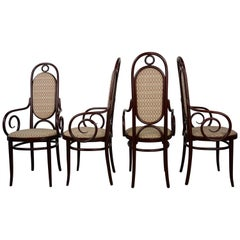 Set of 4 Thonet Bentwood Armchairs N°17