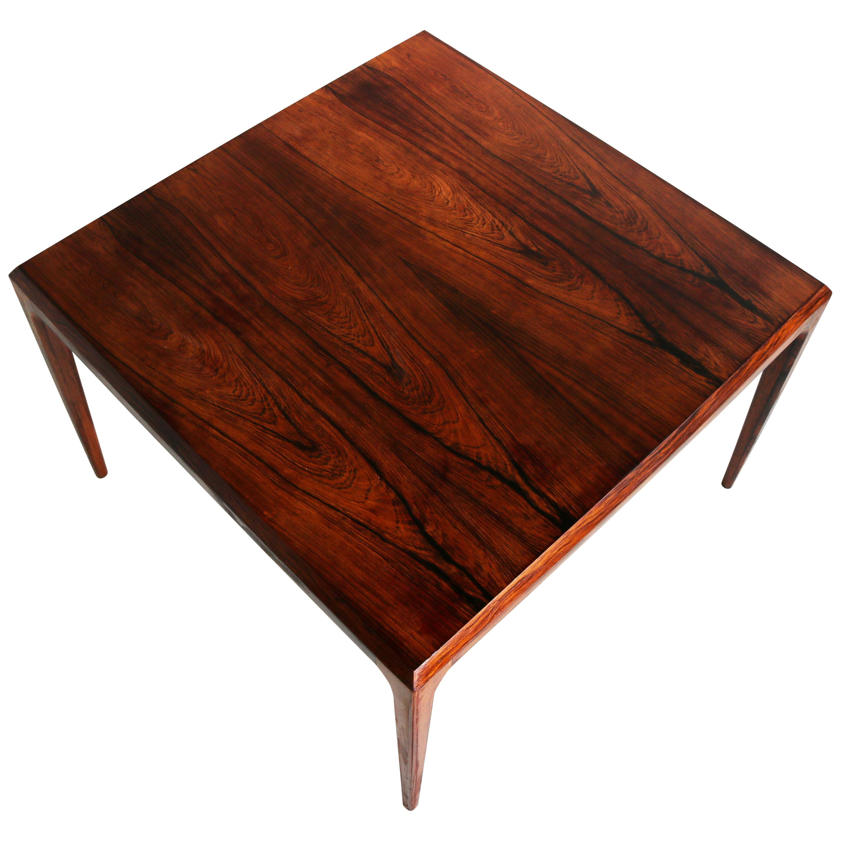 Magnificent Rosewood Coffee Table by Johannes Andersen for CFC Silkeborg, 1950s