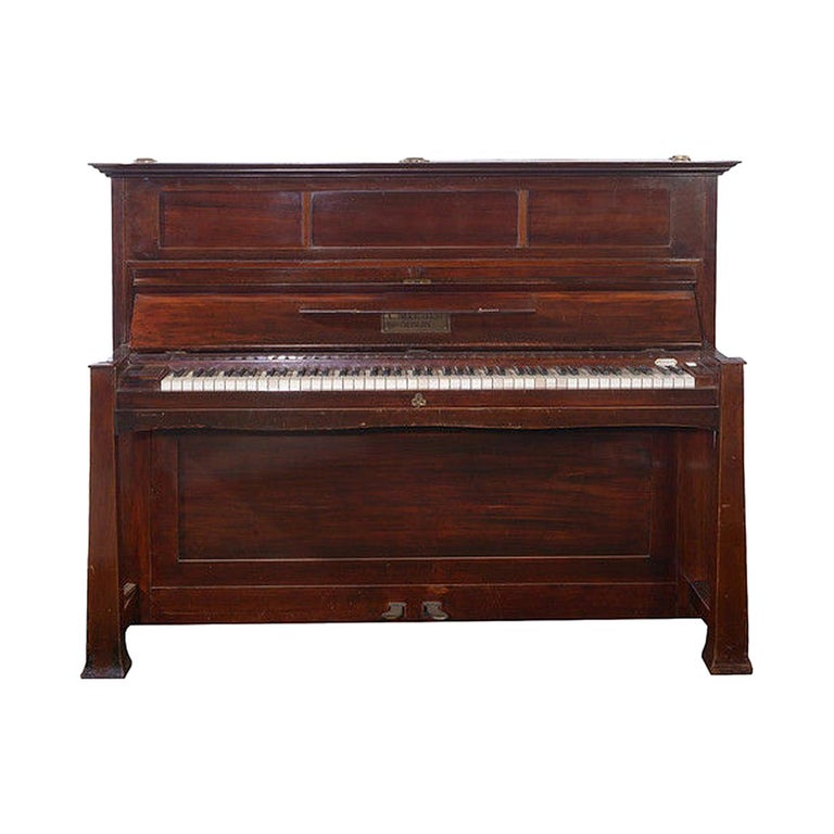 Early 20th Century Upright Piano Manufactured by C. Bechstein For Sale