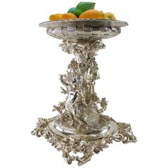 Antique French Silver Plate Large & Heavy Table Centre Piece, Early 20th Century