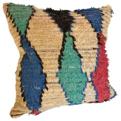 Custom Pillow by Maison  Suzanne Cut from a Vintage Wool Moroccan Azilal Rug