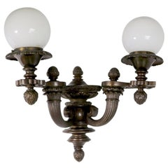 Pair of Two-Arm Architectural Scale Sconces in the Beaux Art Style