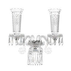 Diamante Neoclassical Crystal Wall Light, 2 Arms
