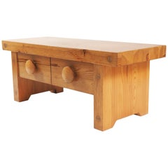 Bench in Solid Pine by Fröseke, Sweden, 1970s