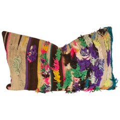 Custom Pillow by Maison Suzanne, Cut from a Vintage Wool Moroccan Berber Rug