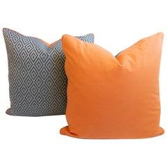 Blue Diamond Patterned Pillows