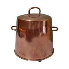 Early 18th Century Dutch Red Copper Coal Bin