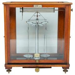 Scale by Oertling in Glazed Case