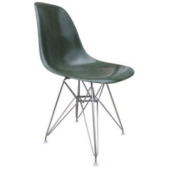 Rare Green Eames Chair with Eiffel Base