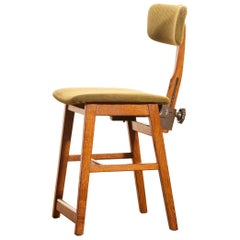 1960s, Teak and Wool Desk Chair by Âtvidabergs, Sweden