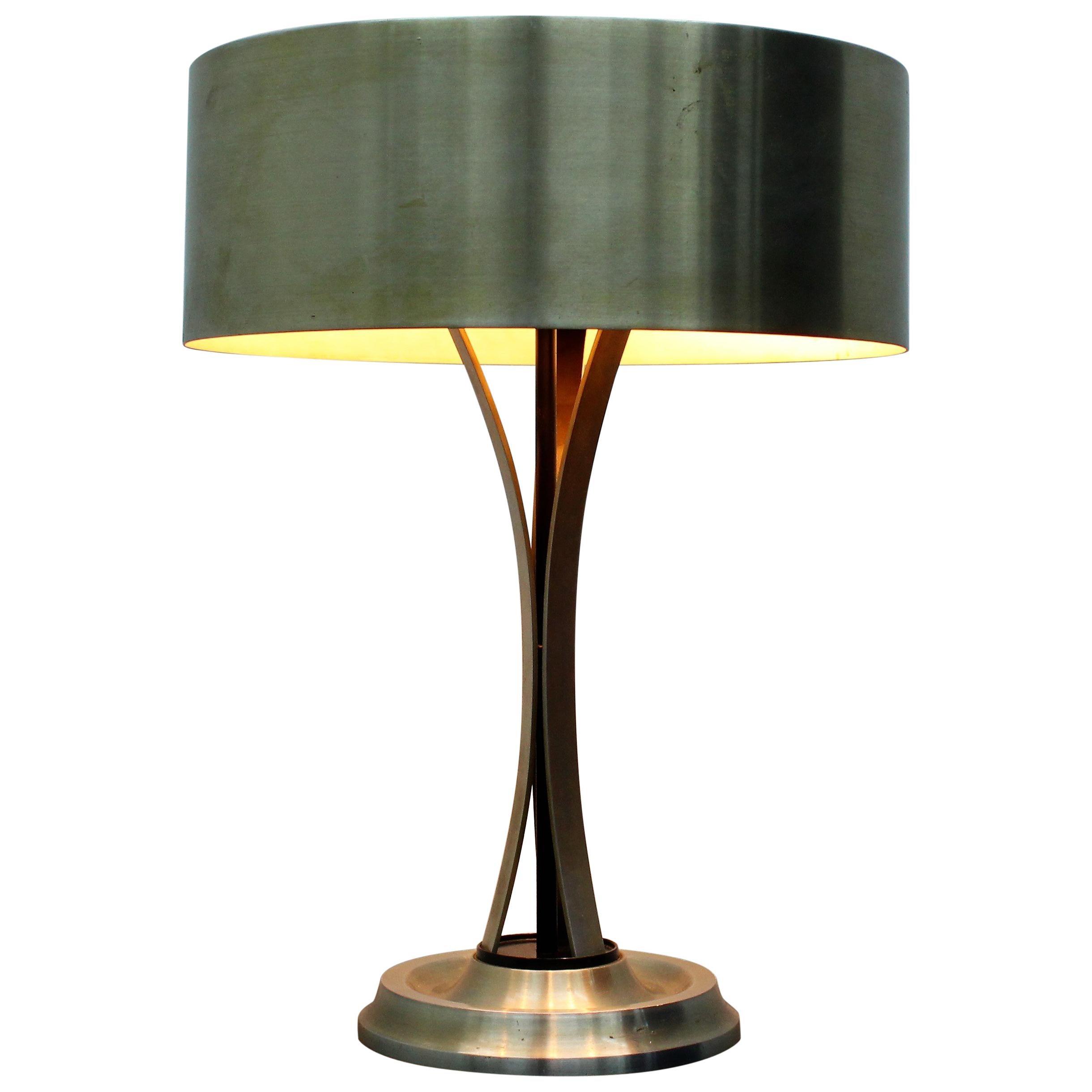 Oscar Torlasco Mid-Century Steel Table Lamp  Mod. 790 for LUMI Milano 1950