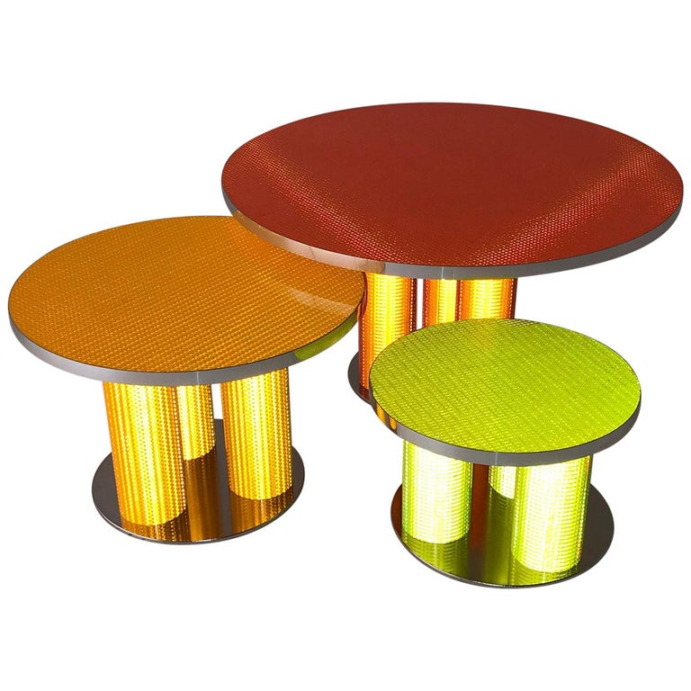 """Modern Coffee Tables """"Reflector Collection"""" by Sebastiano Bottos, Italia For Sale"""