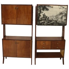 20th Century Italian Vintage Design Pair of Bookcase or Cabinet in Teak, 1960s