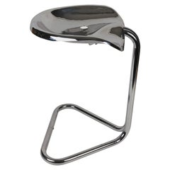1960s Chrome Tractor Stool by Rodney Kinsman
