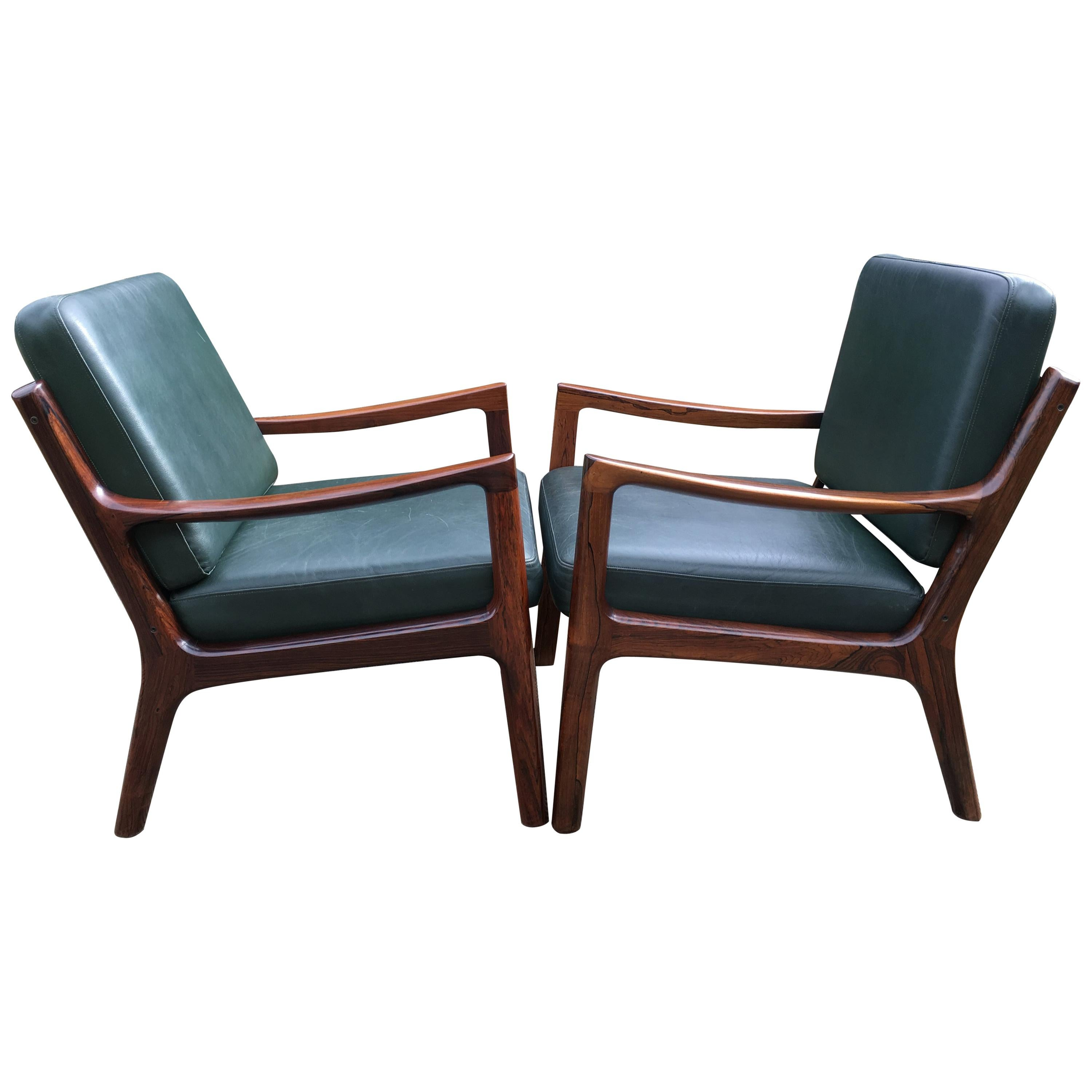 Pair of 'Senator' Chairs by Ole Wanscher for France and Son