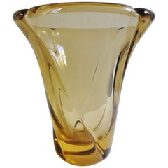 Important Glass Vase by DAUM, France, circa 1955