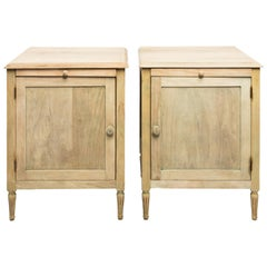 Pair of French Bleached Wood Side Tables, circa 1920s