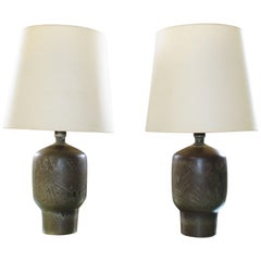 Large Pair of Design Technics Table Lamps by Lee Rosen