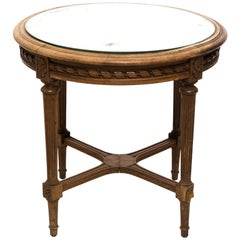 Mirror Top French Side Table, circa 1920s
