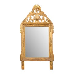 French Louis XV Style Giltwood Mirror with Hand Carved Liberal Arts Symbols
