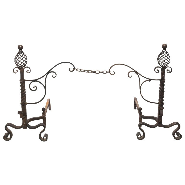 Continental Andirons For Sale