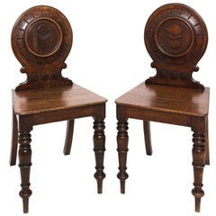 Pair of English Hall Side Chairs