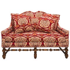 Red Moroccan Style Settee, circa 1980s