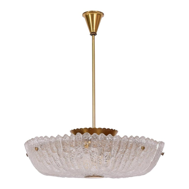 Eight-Panel Pendant Lamp by Carl Fagerlund for Orrefors For Sale