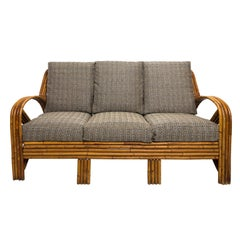Paul Frankl Rattan Couch