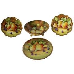19th Century Coalport English Dessert Service, Tableware with Gilt Borders