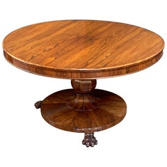English Tilt-Top Centre or Breakfast Table, William IV Period