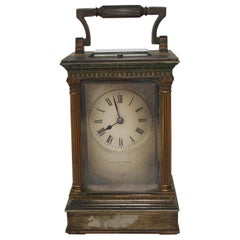 19th Century French Carriage Clock with Repeat Button