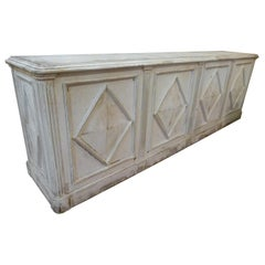 20th Century Vintage White Patinated Spanish Pharmacy Counter