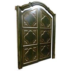 19th Century Spanish Wooden Framed Double Door