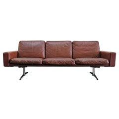 Danish 3-Seat Leather Sofa, 1960