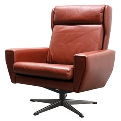 Georg Thams Leather Lounge Chair
