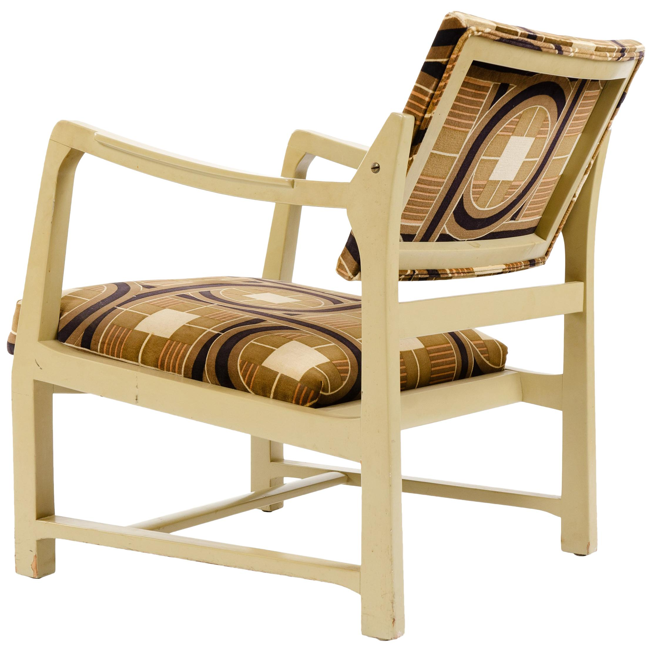 Lacquered Mahogany Lounge Chair by Edward Wormley for Dunbar