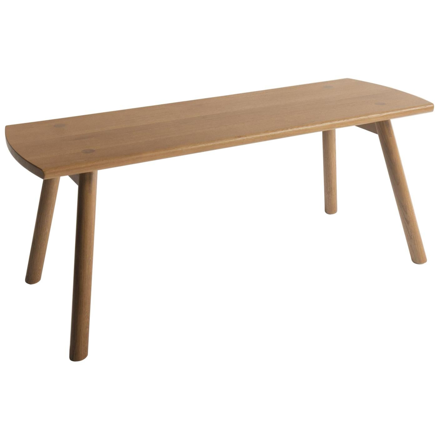 Sol Bench by Sun at Six, Sienna Minimalist Bench in Oak Wood