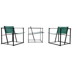 Emerald Green Cube Chairs by Radboud Van Beekum for Pastoe
