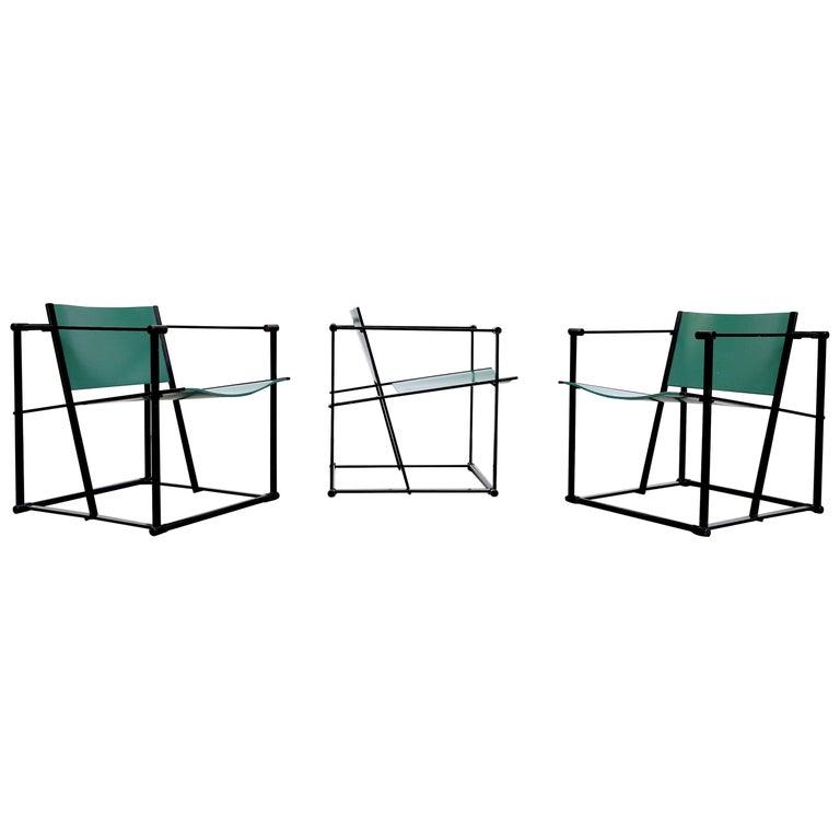 Emerald Green Cube Chairs by Radboud Van Beekum for Pastoe For Sale