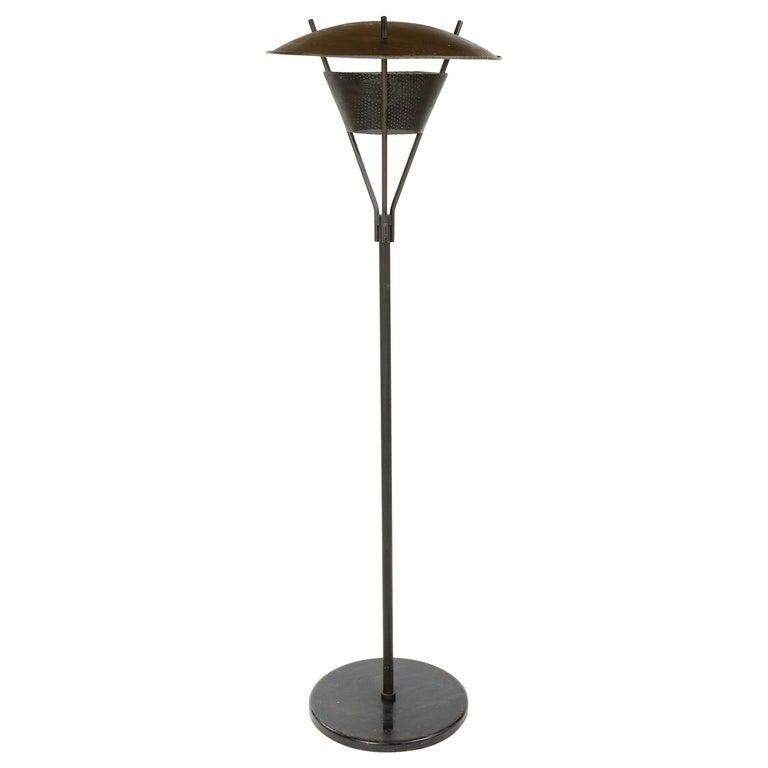 Enameled Floor Lamp by Gerald Thurston for Lightolier For Sale