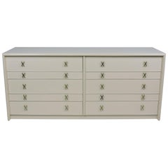 Paul Frankl Mid-Century Modern Double Chest of Drawers for Johnson Furniture