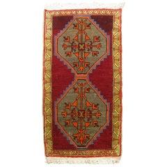 Bright Vintage Anatolian Turkish Rug