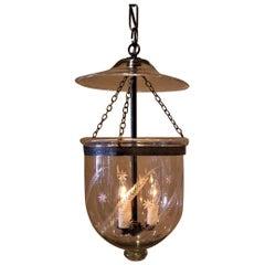 Regency Fern-&-Star Etched Bell Jar Lantern, England, circa 1825