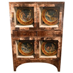 Lacquered Goatskin Cabinet with Tromp L'oeil Design