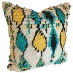 Custom Pillow by Maison Suzanne, Cut from a Vintage Wool Moroccan Azilal Rug
