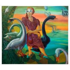 "Original Painting by Austin, ""Swan Lady"""
