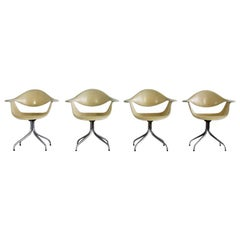 Set of 4 Original DAF Swag Leg Chairs by George Nelson