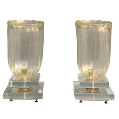 20th Century Pair of Murano Table Lamps