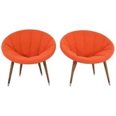Pair of Midcentury Hoop Chairs